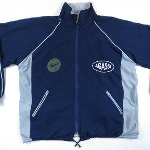 Vintage 90s Bootleg Agassi Challenge Court Jacket